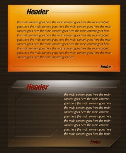 Header Footer Examples