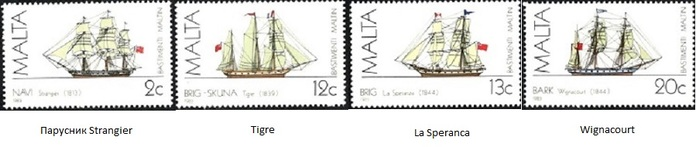 91.00.5.02 Мальта Парусники Strangier (700x147, 38Kb)