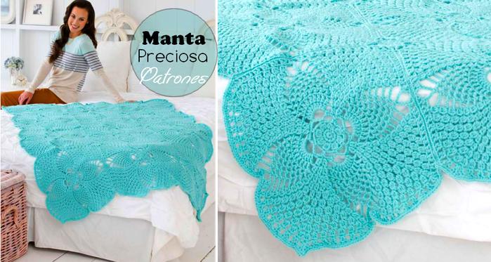 BellГsima-manta-tejida-al-crochet-Patrones (700x373, 485Kb)