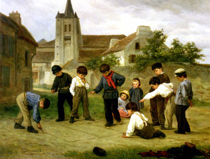 Theophile-Emmanuel Duverger (1821-1901) - Hopscotch (700x531, 529Kb)