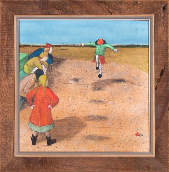 William  Kurelek (1927-1977) - Hopscotch (689x700, 674Kb)