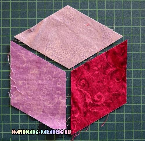 Лоскутное одеяло «Кубики» в технике пэчворк (3) (499x485, 327Kb)