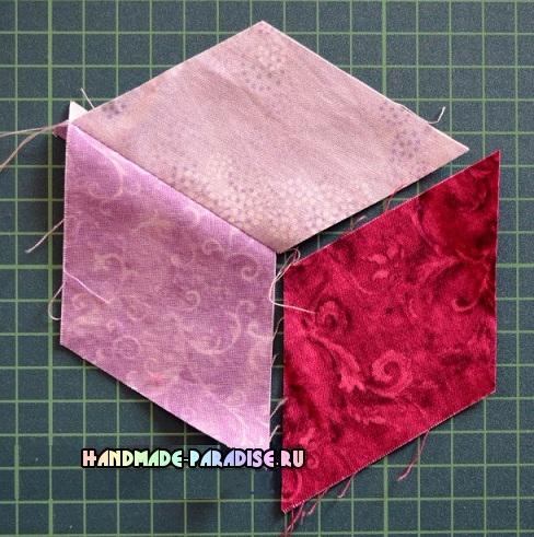 Лоскутное одеяло «Кубики» в технике пэчворк (5) (488x491, 300Kb)