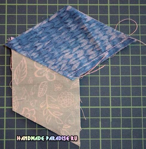 Лоскутное одеяло «Кубики» в технике пэчворк (7) (489x497, 295Kb)