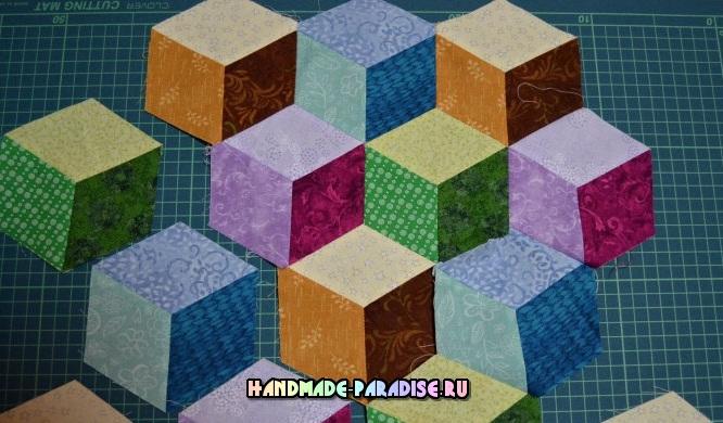 Лоскутное одеяло «Кубики» в технике пэчворк (23) (666x390, 290Kb)