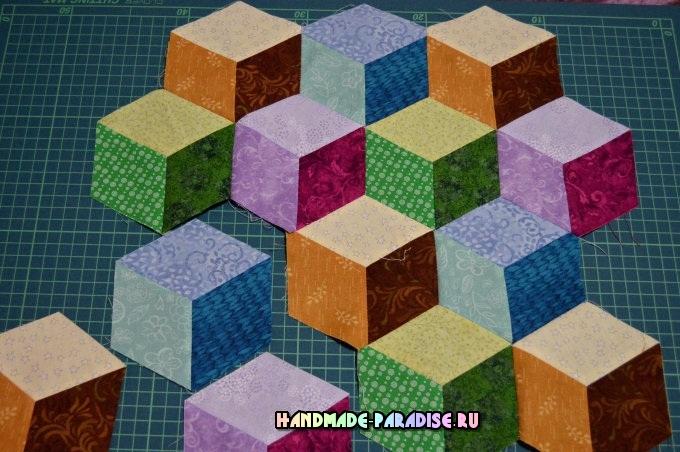Лоскутное одеяло «Кубики» в технике пэчворк (27) (680x452, 331Kb)