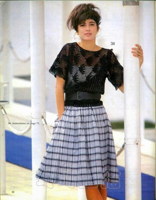 Вязание крючком. Ажурная блуза. Схема вязания/3071837_231 (546x700, 254Kb)
