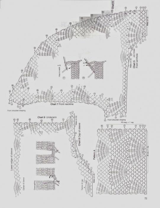 Вязание крючком. Ажурная блуза. Схема вязания/3071837_233 (541x700, 216Kb)