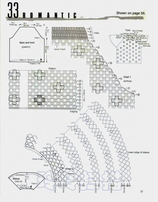 Вязание крючком. Блуза с цветочным орнаментом и бусинами. схема вязания/3071837_252 (546x700, 234Kb)