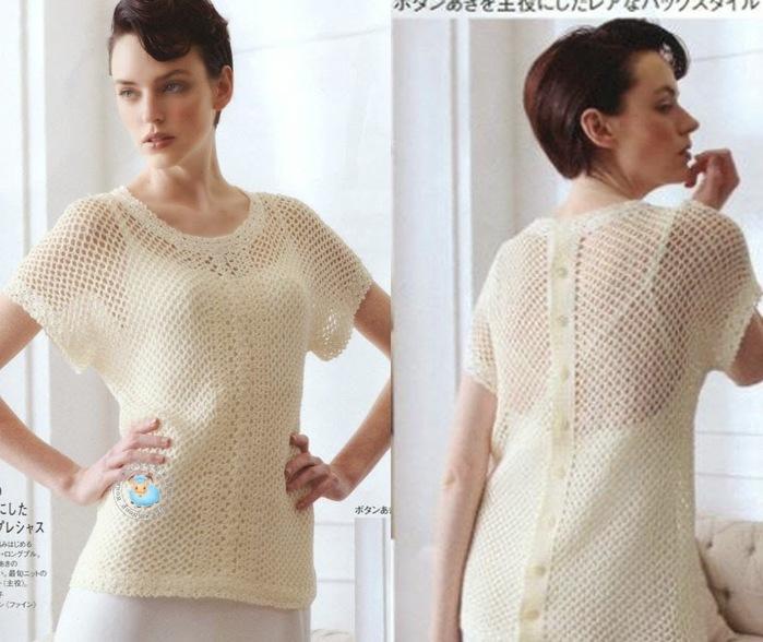 Вязание крючком. Оригинальная блуза сеткой. схема вязания/3071837_271 (700x588, 107Kb)