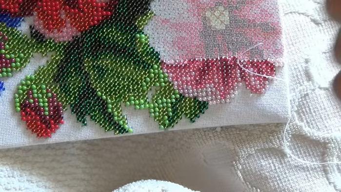 Вышивка бисер как закрепить нить