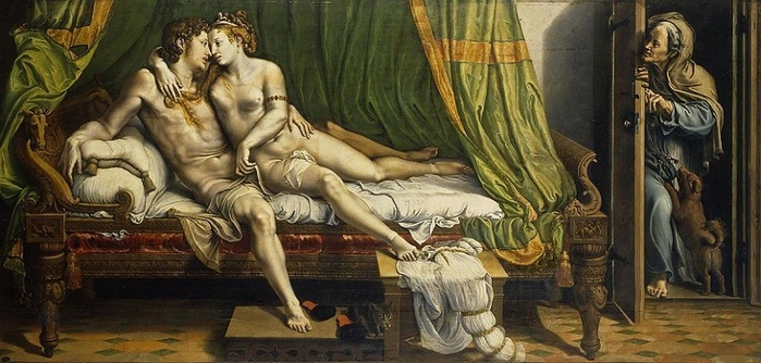 Giulio_Romano The_Lovers Джулио Романо Любовники (700x334, 112Kb)