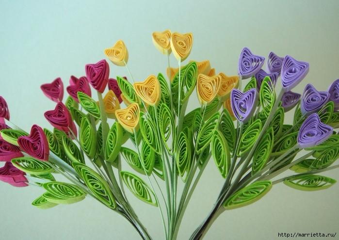 Миниатюрные горшочки с цветами в технике квиллинг (11) (700x495, 270Kb)