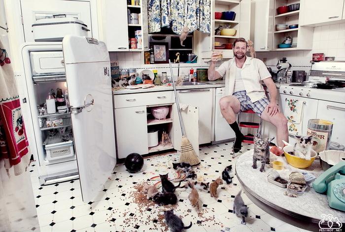 Как заставить мужчину готовить, или Добытчик на кухне