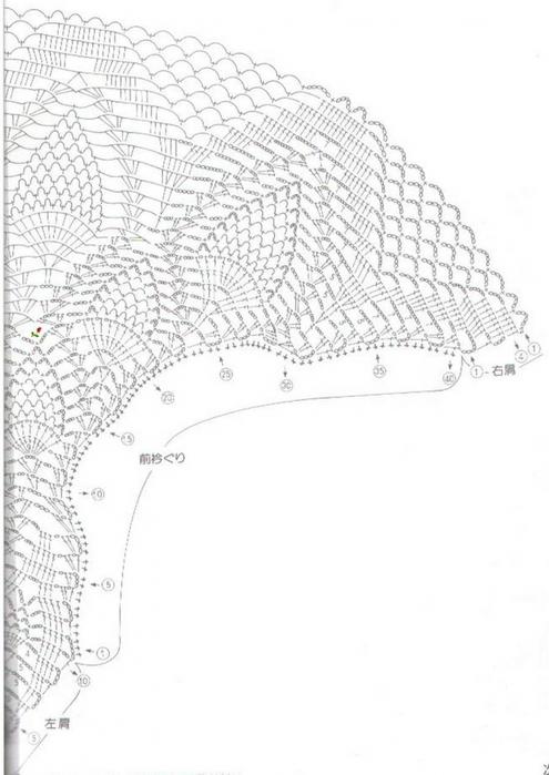 Вязание крючком. Ажурный жилет. схема вязания/3071837_024 (495x700, 176Kb)