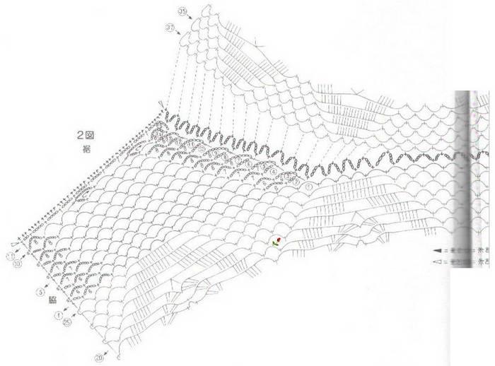 Вязание крючком. Ажурный жилет. схема вязания/3071837_026 (700x518, 41Kb)