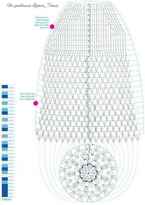 """Вязание крючком. Игрушка """"Морж"""" схема вязания игрушки/3071837_032 (494x700, 231Kb)"""