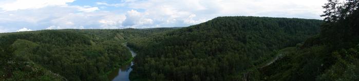 Бердские скалы. Панорама (700x159, 133Kb)