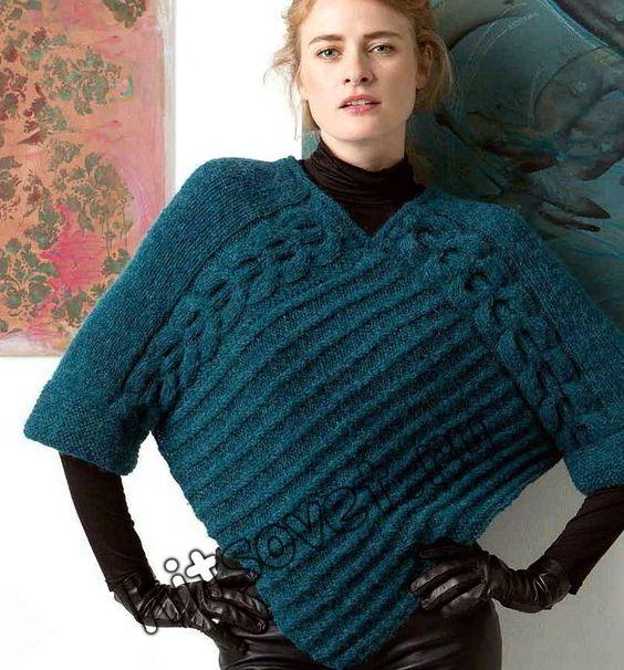 f52ec13364e9a4e430d8e6ed60209448 пуловер-пончо 1 (564x606, 71Kb)