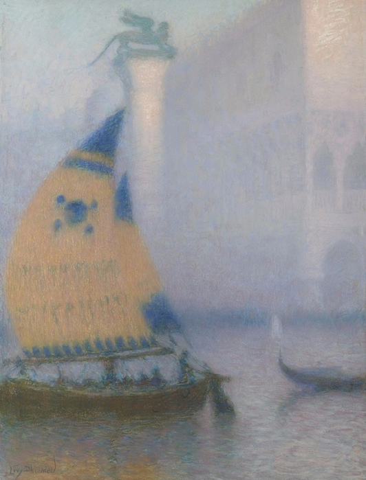 Дворец Пьяццетты и Дожа в Тумане с Брагаццо (The Piazzetta and Doge's palace in the Fog with a Bragazzo) (532x700, 348Kb)