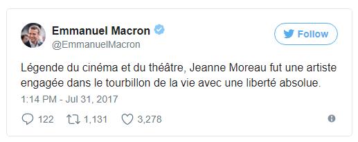 В Париже умерла актриса Жанна Моро
