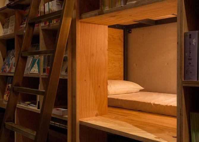 Японский отель для книголюбов The Book and Bed Tokyo