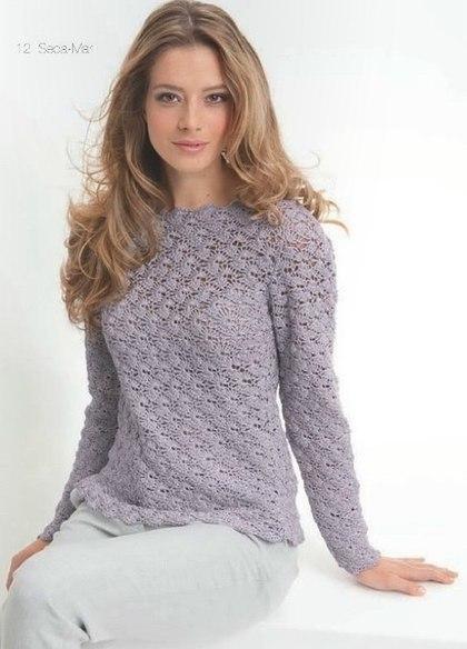 Пуловер связанный крючком с подробной схемой вязания./3071837_221 (420x584, 37Kb)