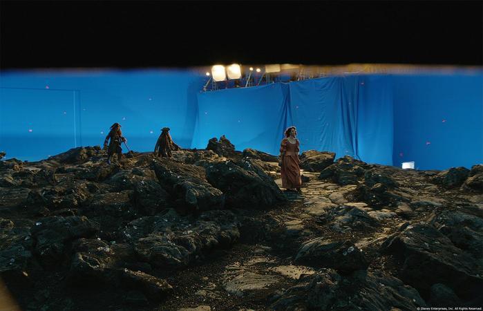 Фотографии с объяснением спецэффектов фильма «Мертвецы не рассказывают сказки»