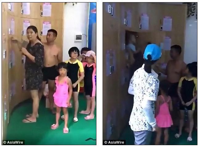 Китайцы оставили плачущего ребенка в шкафчике для одежды