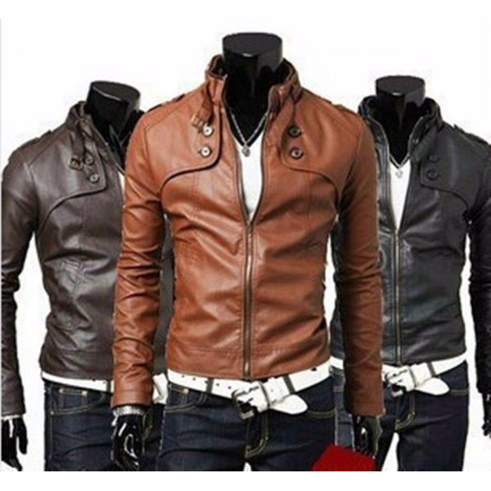 Lambskin Leather Jacket Black Dark Tan Brown Slim fit Biker-700x700 (700x700, 304Kb)