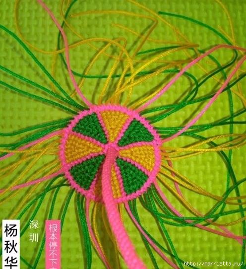 Плетение миниатюрного зонтика для куклы (11) (496x542, 214Kb)