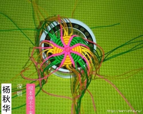 Плетение миниатюрного зонтика для куклы (6) (499x400, 124Kb)
