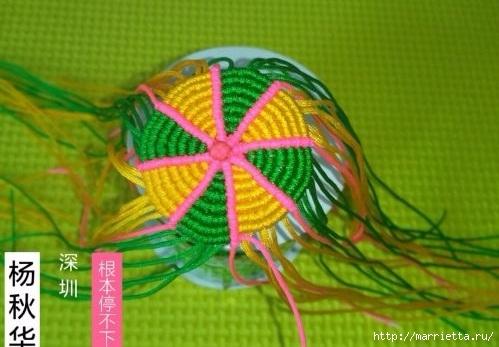 Плетение миниатюрного зонтика для куклы (8) (499x347, 116Kb)