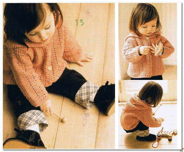 Вязание крючком. Детская кофточка с капюшоном. со схемой вязания/3071837_381 (700x576, 635Kb)