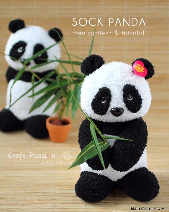 Шьем панду из махровых носочков (23) (560x700, 266Kb)