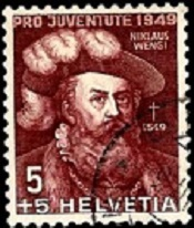 YtCH 493 1949 Niklas Wengi the elected head of a city, Доплата 5+5 (175x206, 28Kb)