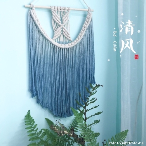 Плетение декоративного панно в технике макраме (1) (500x500, 154Kb)