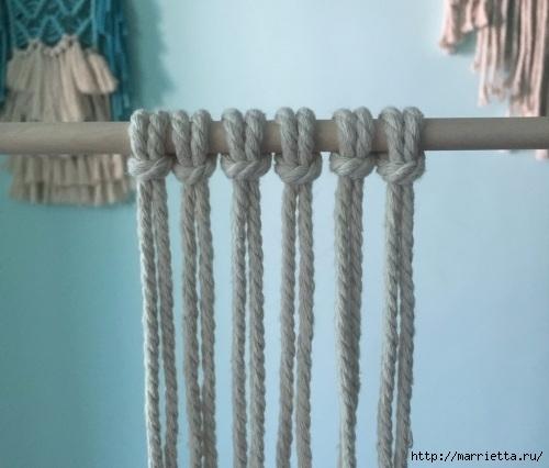 Плетение декоративного панно в технике макраме (3) (500x426, 109Kb)