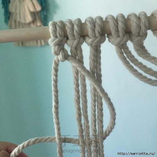 Плетение декоративного панно в технике макраме (5) (500x500, 125Kb)