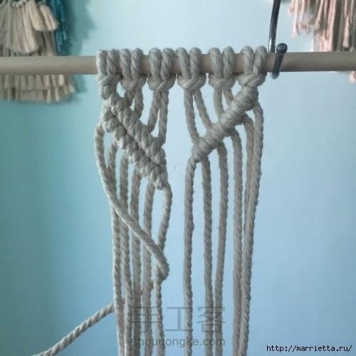 Плетение декоративного панно в технике макраме (9) (500x500, 131Kb)