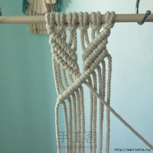 Плетение декоративного панно в технике макраме (12) (500x500, 126Kb)