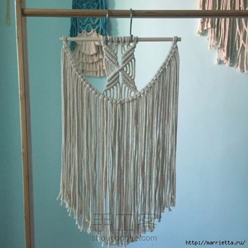 макраме пано схема плетения
