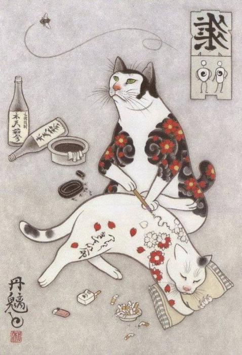 monmon-cats-Kazuaki-Horitomo-3 (478x700, 340Kb)