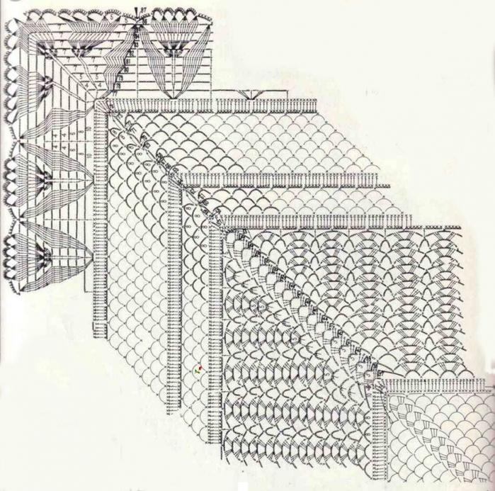 Скатерть прямоугольная связанная крючком схема вязания/3071837_404 (700x693, 353Kb)