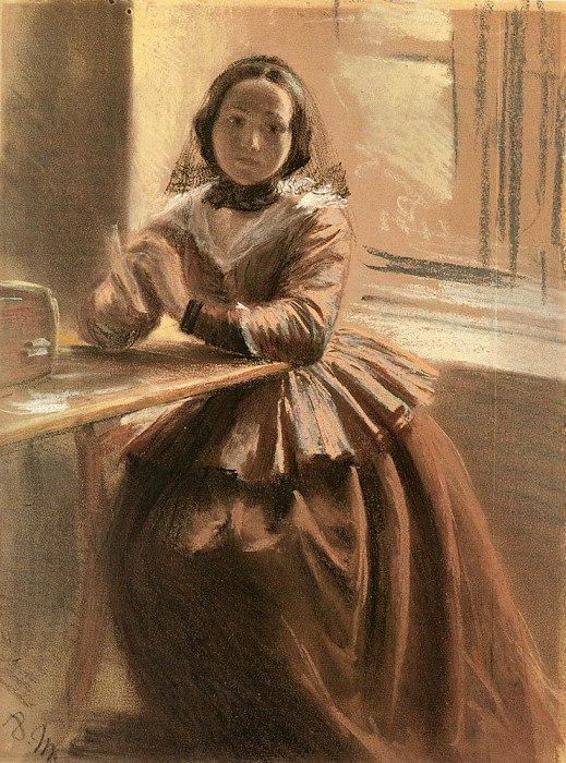 Adolph Friedrich Erdmann von Menzel 1815 — 1905 Эмилия, сестра Менцеля/5735756_JOar88Q9NDM (519x700, 131Kb)