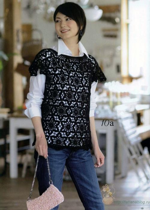 Блуза связанная мотивами со схемой вязания и сборки/3071837_511 (500x700, 249Kb)