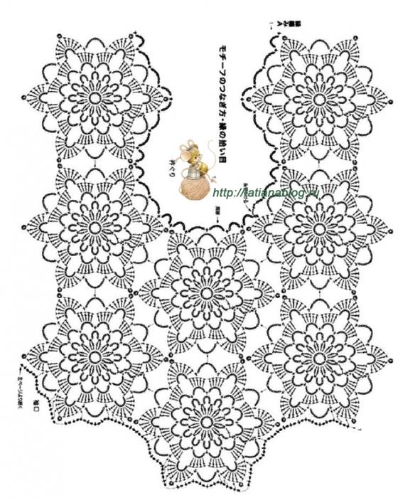 Блуза связанная мотивами со схемой вязания и сборки/3071837_514 (584x700, 260Kb)