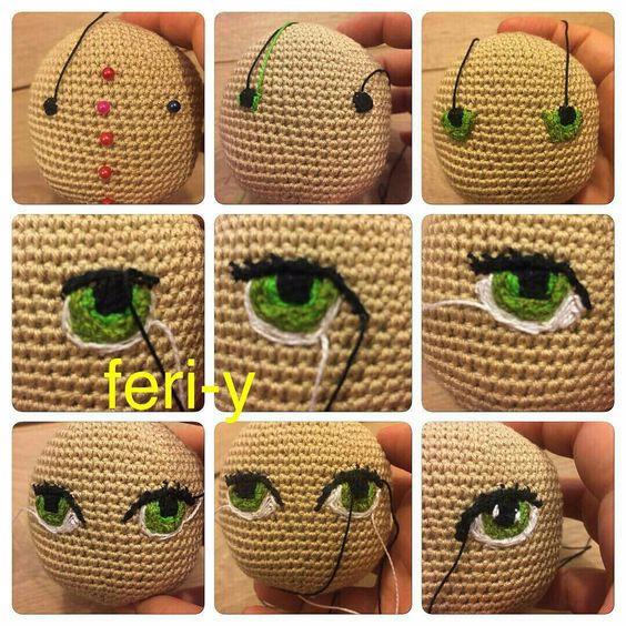 Глазки для вязаных кукол своими руками 39