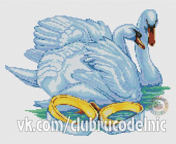 Лебеди (700x576, 574Kb)