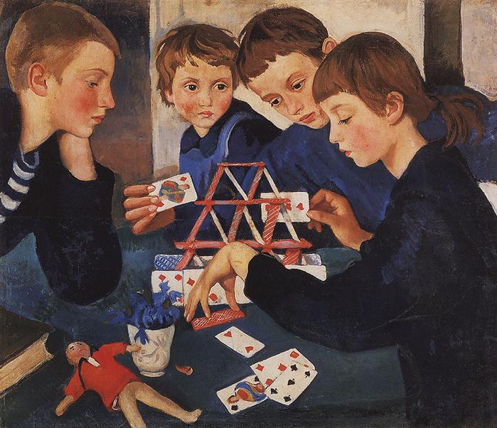 Карточный домик, 1919 год (700x602, 629Kb)